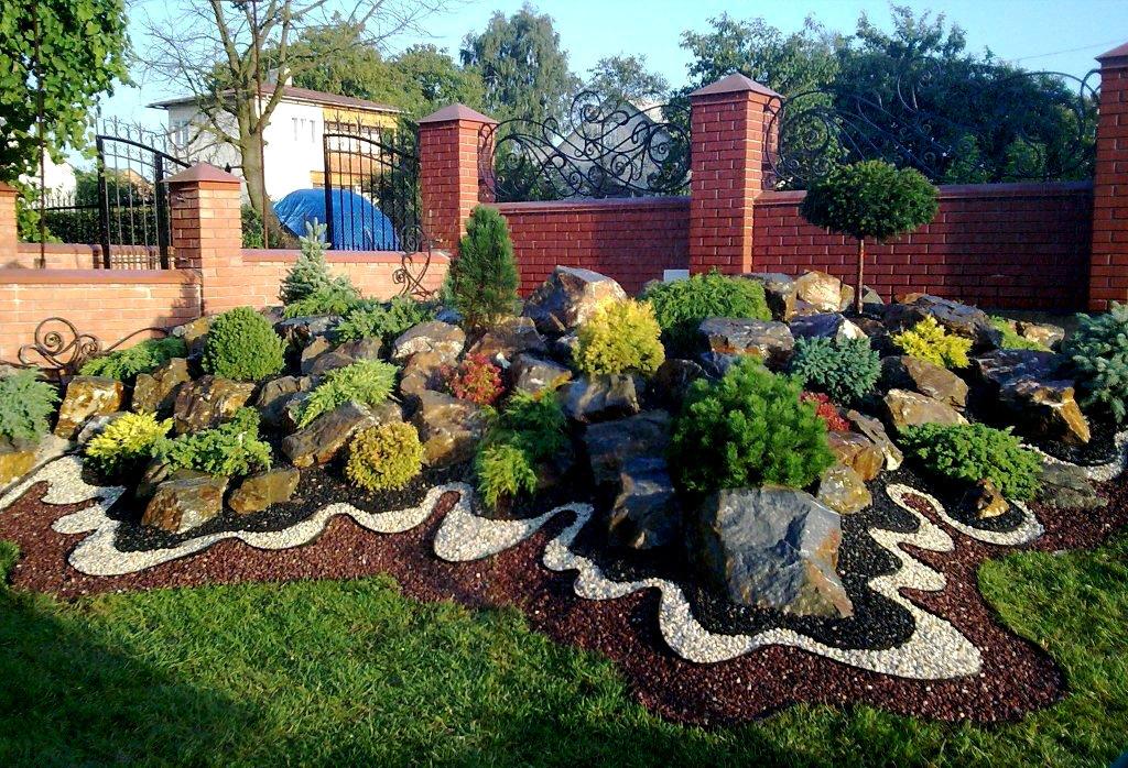 Ландшафтный дизайн двора частного дома своими руками фото