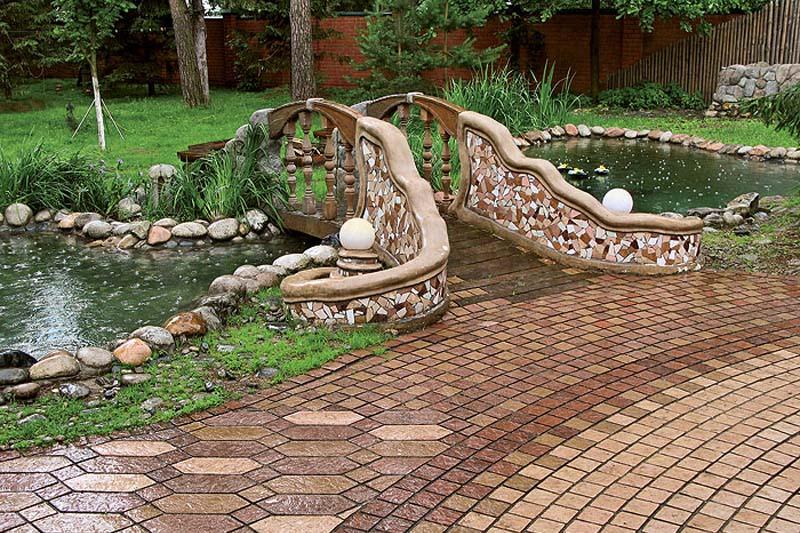 Тротуарная плитка для обустройства ландшафтного дизайна