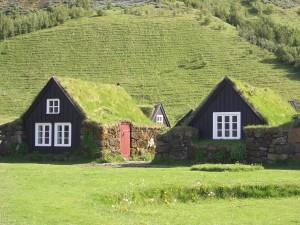 Фарерские острова, традиционные крыши домов